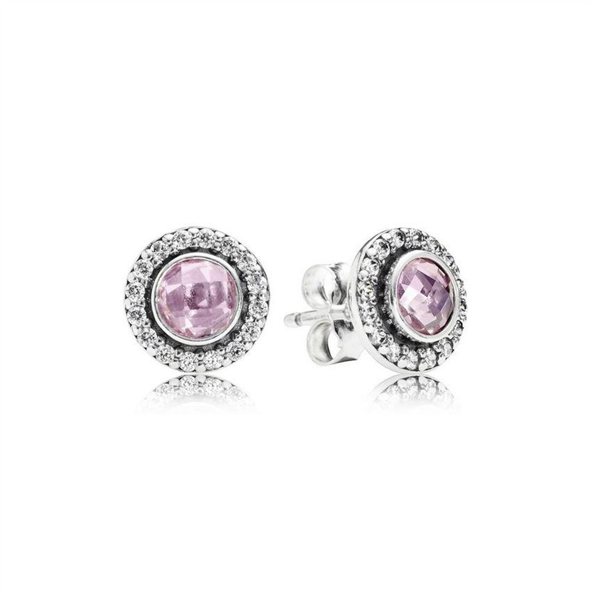 587efdaee Pandora Brilliant Legacy Stud Earrings, Pink & Clear CZ 290553PCZ ...