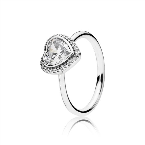 88d7c997c Pandora Sparkling Love Heart Ring, Clear CZ 190929CZ, Pandora Jewelry  Official Site, Pandora Bracelets