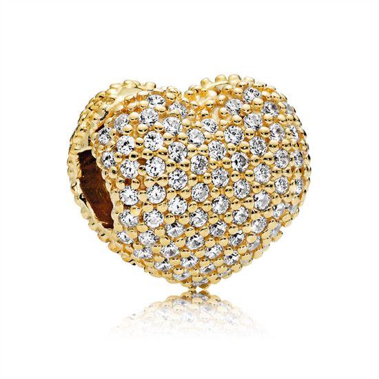 7f82789c0 Pandora Pave Open My Heart Clip, PANDORA Shine & Clear CZ 767156CZ, Pandora  Charms, Pandora Bracelets