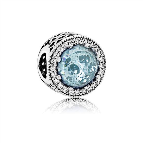 0e3b117bb Pandora Radiant Hearts Charm, Glacier-Blue Crystals & Clear CZ 791725NGL,  Pandora Jewelry Official Site, Pandora Bracelets