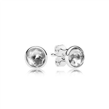 35598298f Pandora Forever PANDORA Stud Earrings 290585CZ, Pandora Charms ...