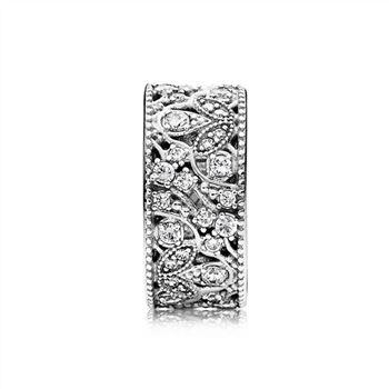 cc73db03d Pandora Shimmering Leaves Ring, Clear CZ 190965CZ, Pandora Jewelry ...